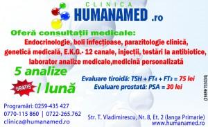 analize medicale laborator oradea si consultatii endocrinologie boli infectioase 05 02 2015 humanamed